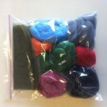 7 x 20g Colours Wet Felting Kit
